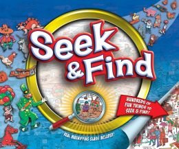 Seek & Find 10'' By 12'' Magnifying Glass: Kids Books