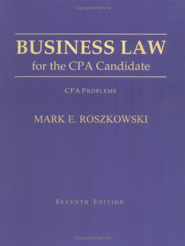 9781588740298: Business Law for the CPA Candidate: CPA Problems