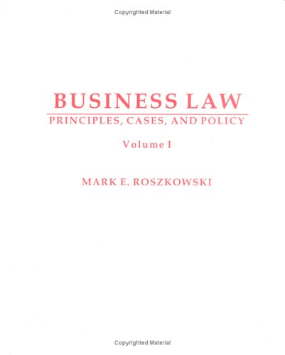 9781588743503: Business Law: Principles, Cases And Policy
