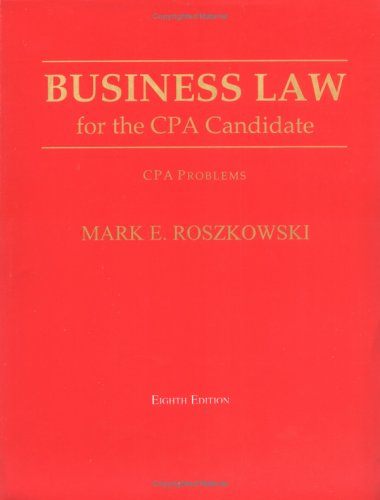 9781588744609: Business Law for the CPA Candidate: Cpa Problems