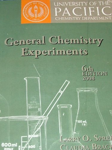 9781588748324: GENERAL cHEMISTRY EXPERIMENTS 6th Edition for University of the Pacific