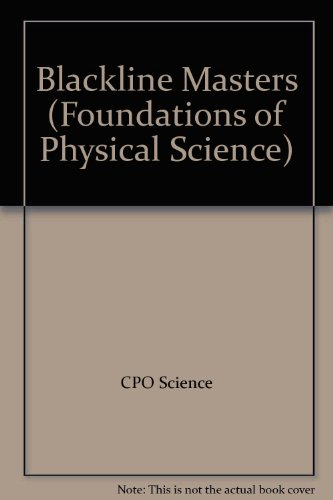 9781588920089: Blackline Masters (Foundations of Physical Science)