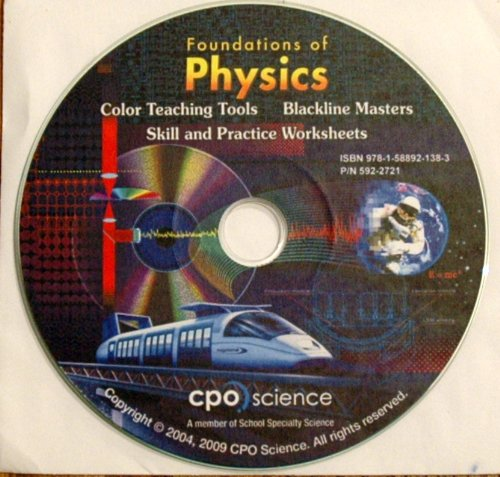 9781588921383: CPO Foundations of Physics Color Teaching Tools Blackline Masters Skill and Practice Worksheets