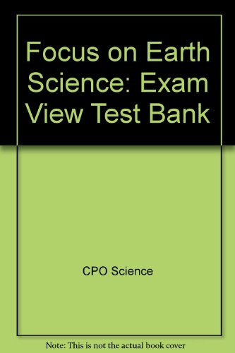 9781588924537: Focus on Earth Science: Exam View Test Bank