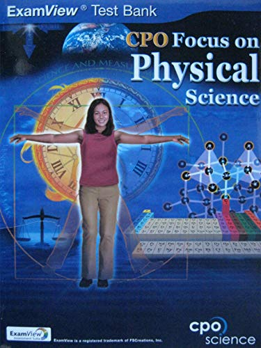 9781588924582: ExamView Test Bank: CPO Focus on Physical Science (CPO Science) (Grade 8)