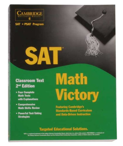 9781588940421: Cambridge Victory for the SAT Test: Math Classroom Textbook, 2nd Ed.