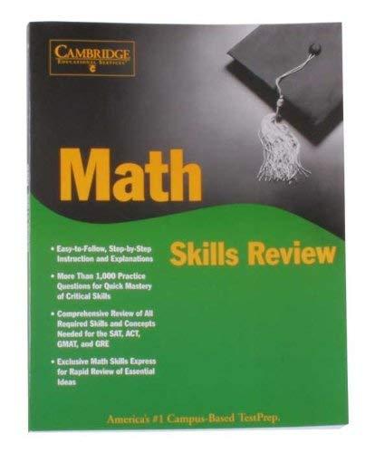 9781588940520: Math Skills Review Textbook