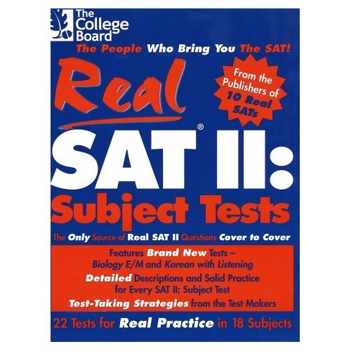 9781588941817: Real SAT II: Subject Tests
