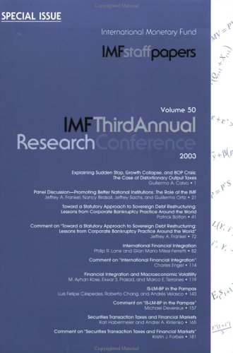 Staff Paper Vol 50 2003 Special Issue: Imf Staff