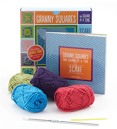 Granny Squares, One Square at a Time / Scarf: Includes Hook and Yarn for Making a Granny ...