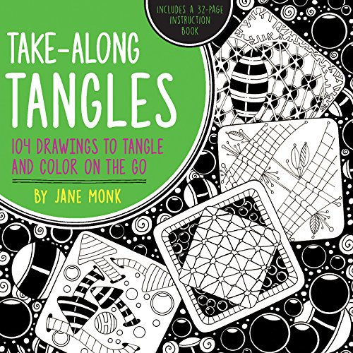9781589239395: Take-Along Tangles: 104 Drawings to Tangle and Color on the Go (Tangled Color and Draw)