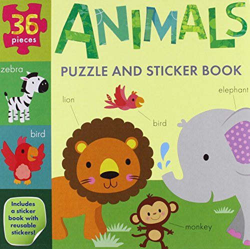 Animals Puzzle and Sticker Book Set (My Little World): Fhiona Galloway