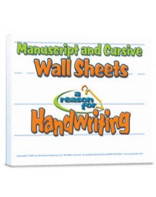 9781589384668: Reason for Handwriting Wall Sheets - Manuscript & Cursive