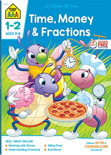 9781589473256: Workbooks-Time, Money and Fractions Grades 1-2