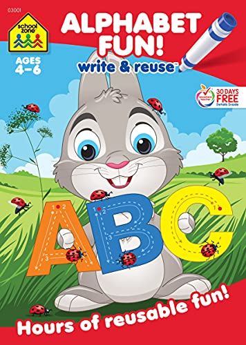 9781589477810: Alphabet Fun Write and Reuse Workbook Ages 4-6