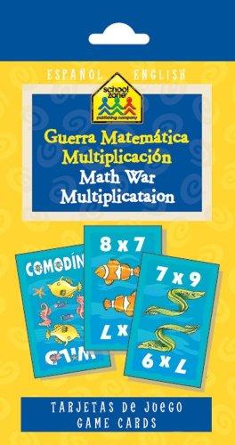Math War Multiplication Game Cards (Spanish Edition)