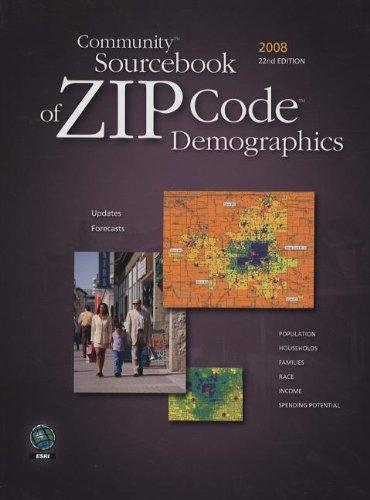Community Sourcebook of ZIP Code Demographics 2008: ESRI