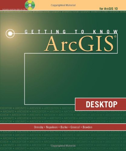 Getting to Know ArcGIS Desktop 9781589482609 Getting to Know ArcGIS Desktop introduces principles of GIS as it teaches the mechanics of using ESRI's leading technology. Key concepts are combined with detailed illustrations and step-by-step exercises to acquaint readers with the building blocks of ArcGIS® Desktop including ArcMap™, for displaying and querying maps, ArcCatalog™, for organizing geographic data, and ModelBuilder™, for diagramming and processing solutions to complex spatial analysis problems. Its broad scope, simple style, and practical orientation makethis bookan ideal classroom text and an excellent resource for those learning GIS on their own. A data CD for working through the exercises and a fully functioning 180-day trial ArcGIS® Desktop 10 software is included.