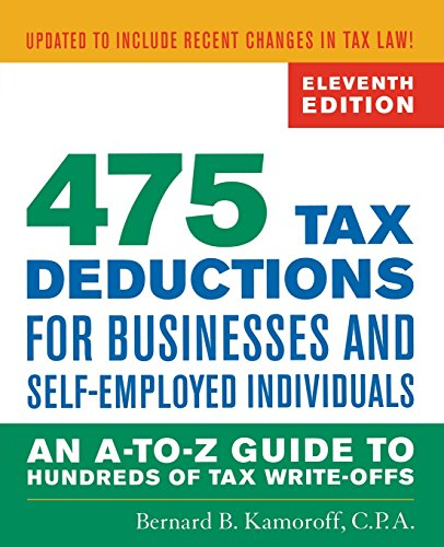 9781589797987: 475 Tax Deductions for Businesses and Self-Employed Individuals: An A-to-Z Guide to Hundreds of Tax Write-Offs