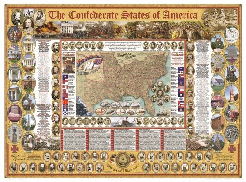 9781589805019: Confederate States of America Poster, The (Civil War State Map Posters)