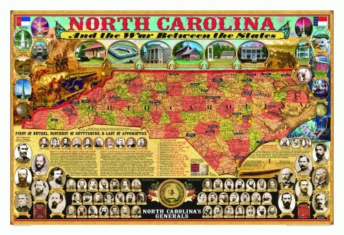 9781589806603: North Carolina and the War Between the States Poster (Civil War State Map Posters)