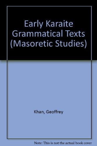 9781589830004: Early Karaite Grammatical Texts (Masoretic Studies, No. 9)