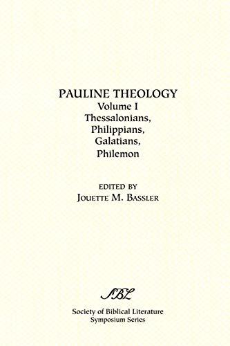 9781589830523: Pauline Theology, Volume I (Symposium Series (Society of Biblical Literature))