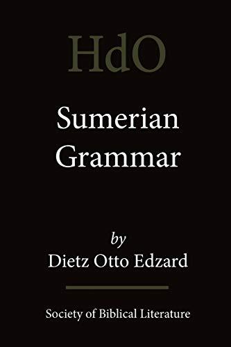 9781589832527: Sumerian Grammar (Handbook of Oriental Studies. Section One, the Near [And] Mi)
