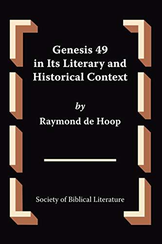 9781589832848: Genesis 49 in Its Literary and Historical Context (Oudtestamentische Studien)