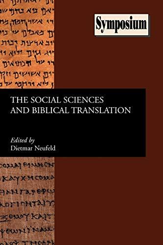9781589833470: The Social Sciences and Biblical Translation (Sbl Symposium)