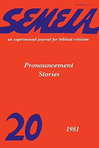 9781589835900: Semeia 20: Pronouncement Stories