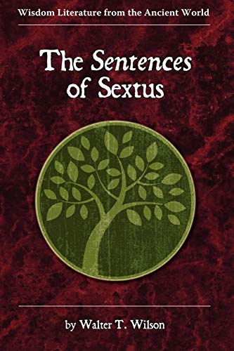 9781589837195: The Sentences of Sextus (Wisdom Literature from the Ancient World)