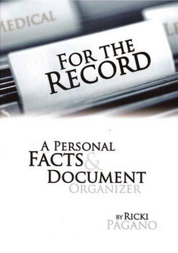 For The Record: A Personal Facts &: Ricki Pagano; Editor-Salvatore