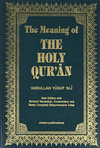 9781590080252: The Meaning of the Holy Qu'ran (English, Arabic and Arabic Edition)