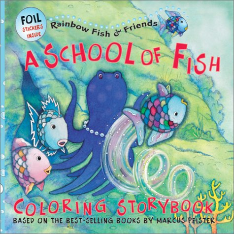 9781590140468: Rainbow Fish: A School of Fish Coloring Storybook