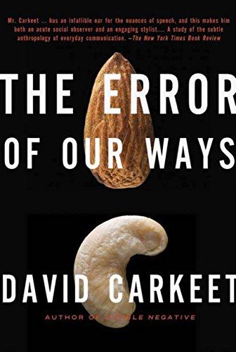 9781590203545: The Error of Our Ways: A Novel