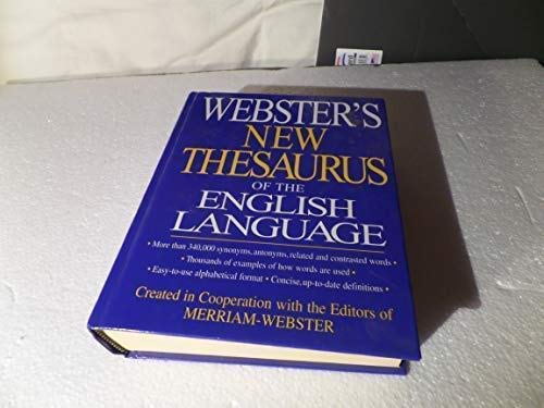 9781590270011: Webster's New Thesaurus of the English Language