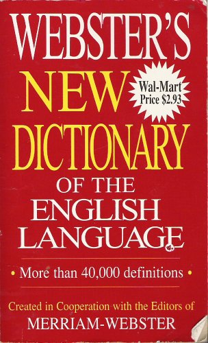 Webster's New Dictionary of the English Language (9781590270554) by Editors Of Merriam-Webster