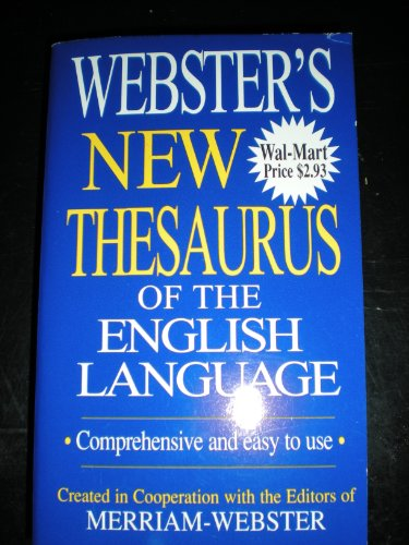 9781590270561: Webster's New Thesaurus of the English Language (Comprehensive and Easy to Use)