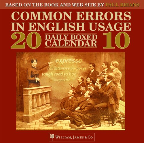 9781590282342: 2010 Common Errors in English Usage Daily Boxed Calendar