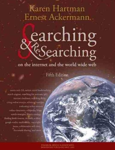 9781590282427: Searching and Researching on the Internet and the World Wide Web, 5th Edition