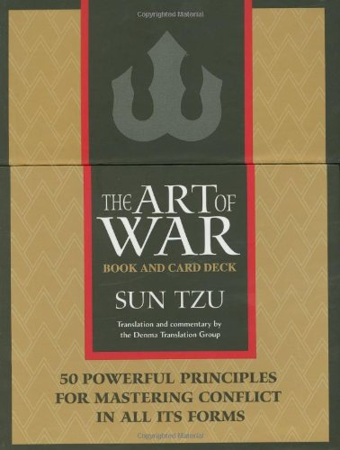 the art of war translation essays and commentary  9781590300718 the art of war box book and card deck