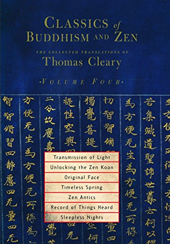 9781590302217: Classics of Buddhism and Zen, Volume 4: The Collected Translations of Thomas Cleary