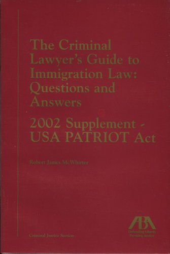 Criminal Lawyers Guide to Immigration: Robert James McWhirter