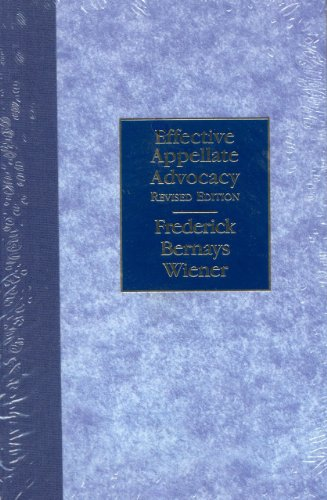 9781590312346: Effective Appellate Advocacy