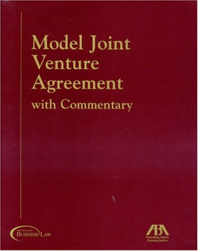 9781590313121: Model Joint Venture Agreement with Commentary