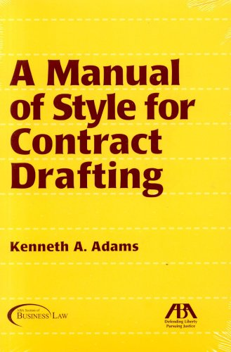 9781590313800: A Manual of Style for Contract Drafting