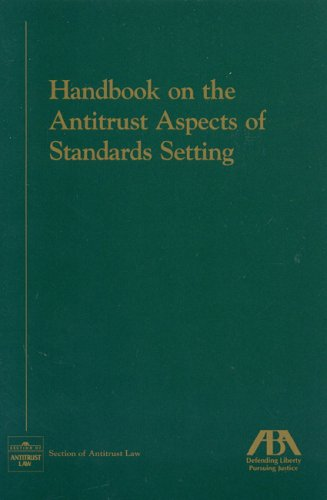 9781590314128: Handbook on the Antitrust Aspects of Standards Setting (American Bar Association Section of Antitrust Law Monograph)