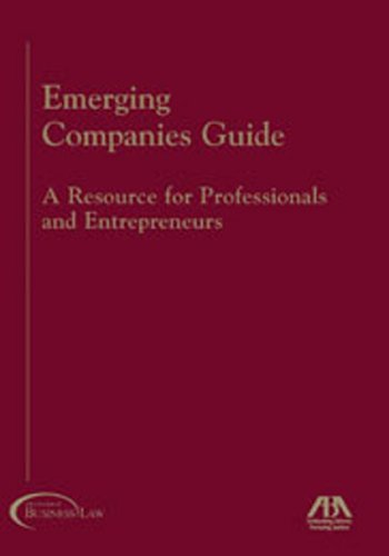 9781590314661: Emerging Companies Guide: A Resource for Professionals and Entrepreneurs