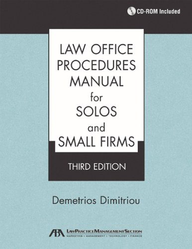 9781590314791: Law Office Procedures Manual for Solos and Small Firms